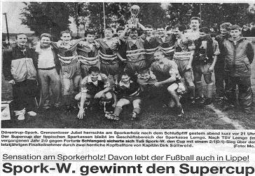 TuS Spork/Wendlinghausen gewinnt 1990 Supercup